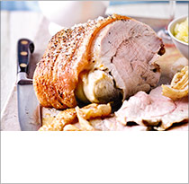 Roast pork with perfect crackling & apple sauce