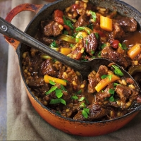 Beef and barley casserole