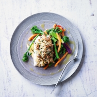 Cod with Parmesan crumble