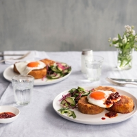 Lentil and sweet potato cakes