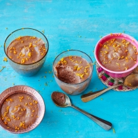 Mexican hot chocolate mousse with tequila, cinnamon and orange zest
