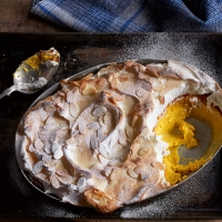 Orange & lemon meringue pudding
