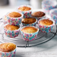 Rhubarb, toffee & ginger muffins