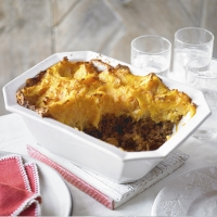Spicy cottage pie with sweet potato mash