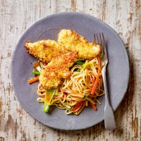 Sweet chilli chicken with noodles