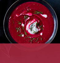 view Beetroot, ginger and coconut soup recipe