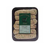 Woburn Country Foods lamb, rosemary & redcurrant sausages