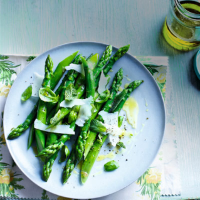 Asparagus, herb and pecorino salad with lemon-infused olive oil