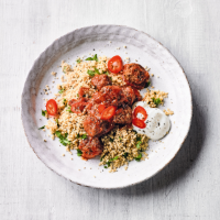 Beef & chilli meatballs with couscous