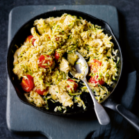 Chicken & courgette risotto