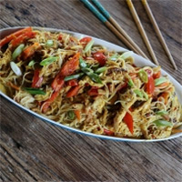 Ching He Huang's Singapore noodles