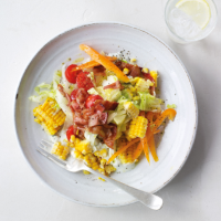 Cobb salad with sweetcorn