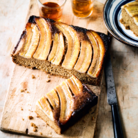 Caramelised banana & ginger upside down cake