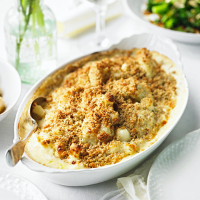 Cauliflower cheese with walnuts and cumin
