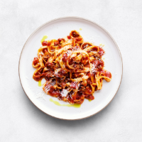 essential Waitrose Bolognese with tagliatelle