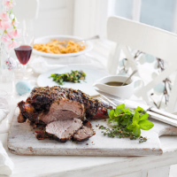 Herb & spice roast leg of lamb