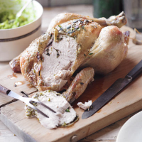 Lemony roast chicken