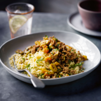 Moroccan minced lamb with couscous