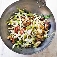 Tofu & mushroom udon