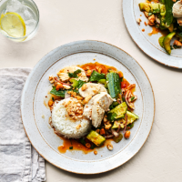 Poached chicken & smashed cucumber salad