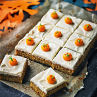 Pumpkin tray bake