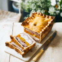 Martha's pork, chicken & apricot pie