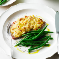 Rarebit topped gammon