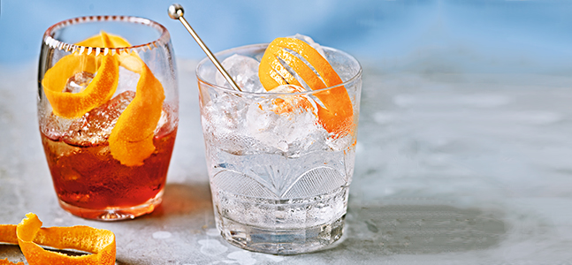 Contemporary gin cocktails