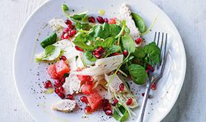 Chicken, fennel & watermelon salad