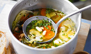 Summer vegetable broth