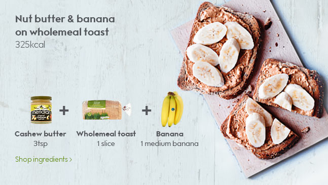 Nut butter and banana on wholemeal toast