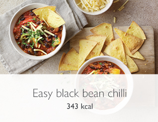easy black bean chilli