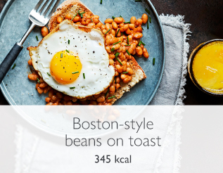 Boston-style beans on toast