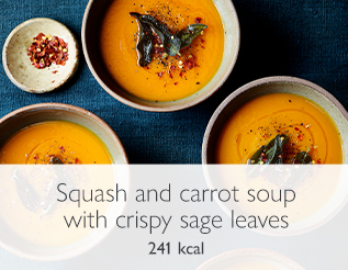 Squash and carrot soup