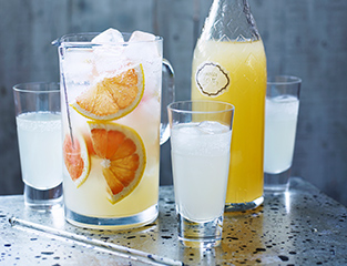 Grapefruit, ginger & lemongrass cordial