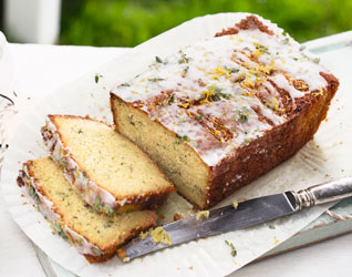 Courgette lemon drizzle cake