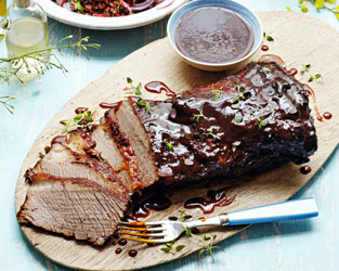 Slow-cooked barbecued beef