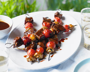 Heston's Asian-style beef kebabs