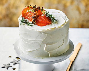Spiced citrus Christmas cake