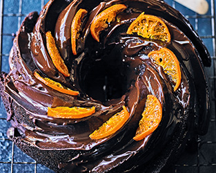 Chocolate clementine Bundt cake