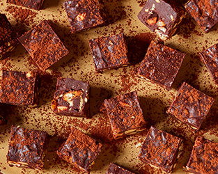 Nutty salt and pepper chocolate squares