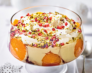 Martha Collinson's orange pomegranate trifle