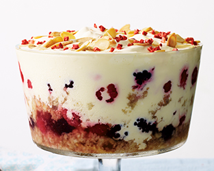 British berry trifle