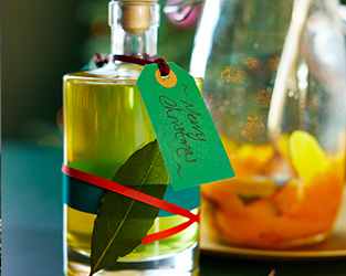 Orange and bay liqueur