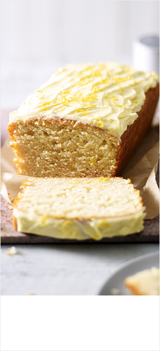 Frosted lemon cake