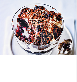 Black Forest & coconut cream trifle