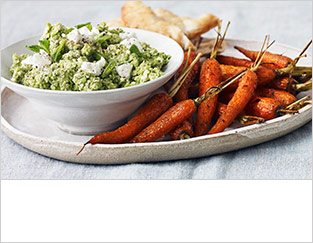 Pea, mint and crushed feta dip