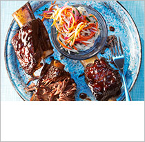 Short ribs with root veg slaw