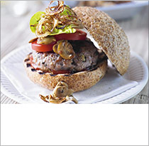 Heston's lamb burger