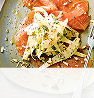 Smoked salmon with parsnip & pear remoulade
